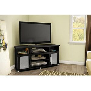 South Shore City Life Corner TV Stand, For TVs Up To 50 Inch Multiple  Finishes, Black