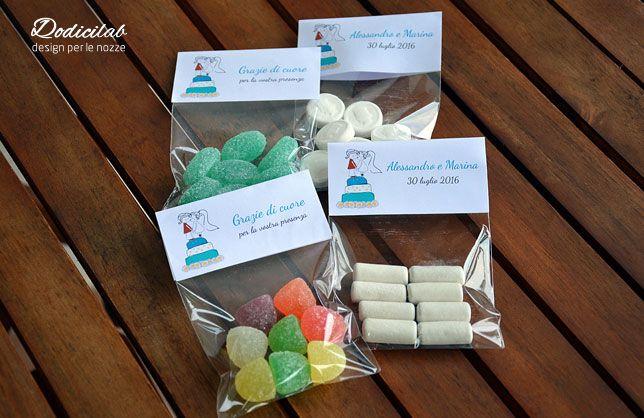 Segnaposto personalizzati con caramelle a scelta...un goloso segnaposto per il vostro matrimonio