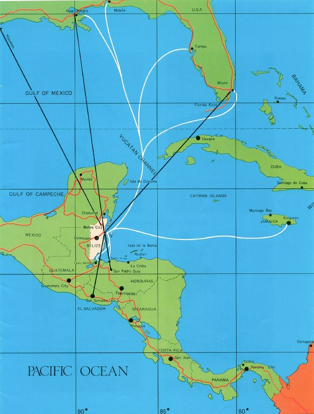 where is belize located | Where is Belize in relation to Miami,