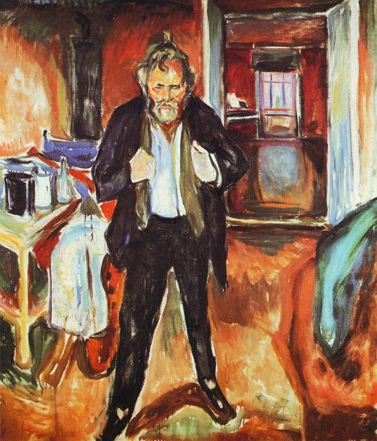 Edvard Munch - Έντβαρτ Μουνκ Αυτοπροσωπογραφία με εσωτερική αναστάτωση (1920)