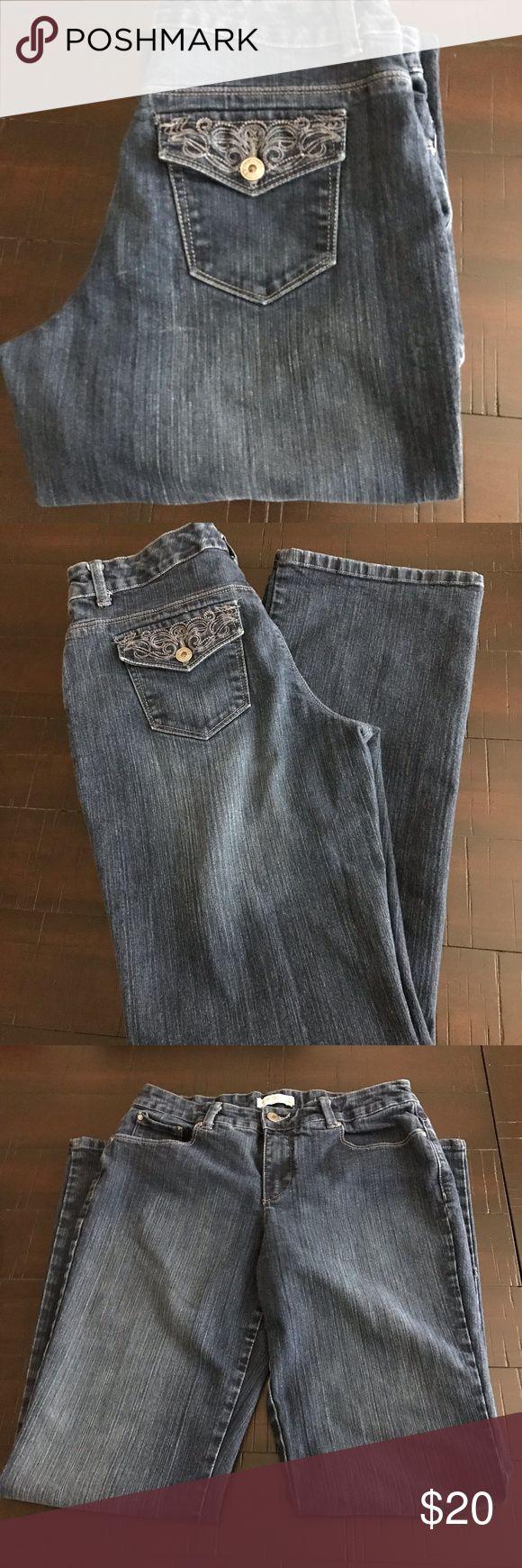 """Jeanstar Premium Denim Women's Jeans Size 8 Jeanstar Premium Denim Women's Jeans  Size 8 31"""" Inseam Boot Cut Excellent pre-owned condition Dark blue Jeanstar Premium Denim Pants Boot Cut & Flare"""