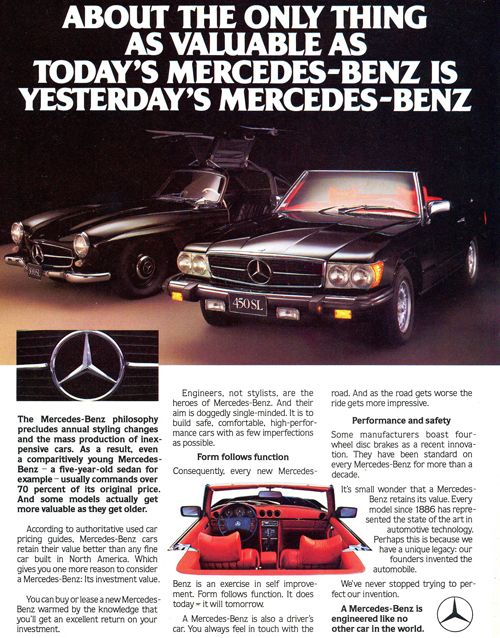Ever since I was a kid, this has been about the only one I want... the 450 SL.