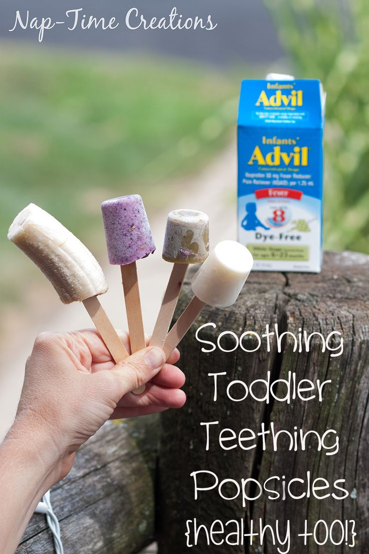 Healthy Toddler Teething popcicles. Soothing and tasty too! #TeethingTruths #CollectiveBias {ad} from Nap-Time Creations.com