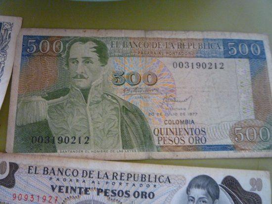 billete de 500 pesos colombianos