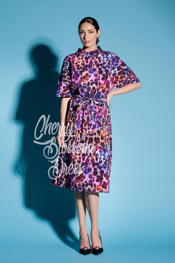 Blue animal print maxi dress