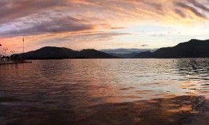 Tramonto al Lago d'Iseo - Fotografia di Laura Gatta, Itinerari Brescia