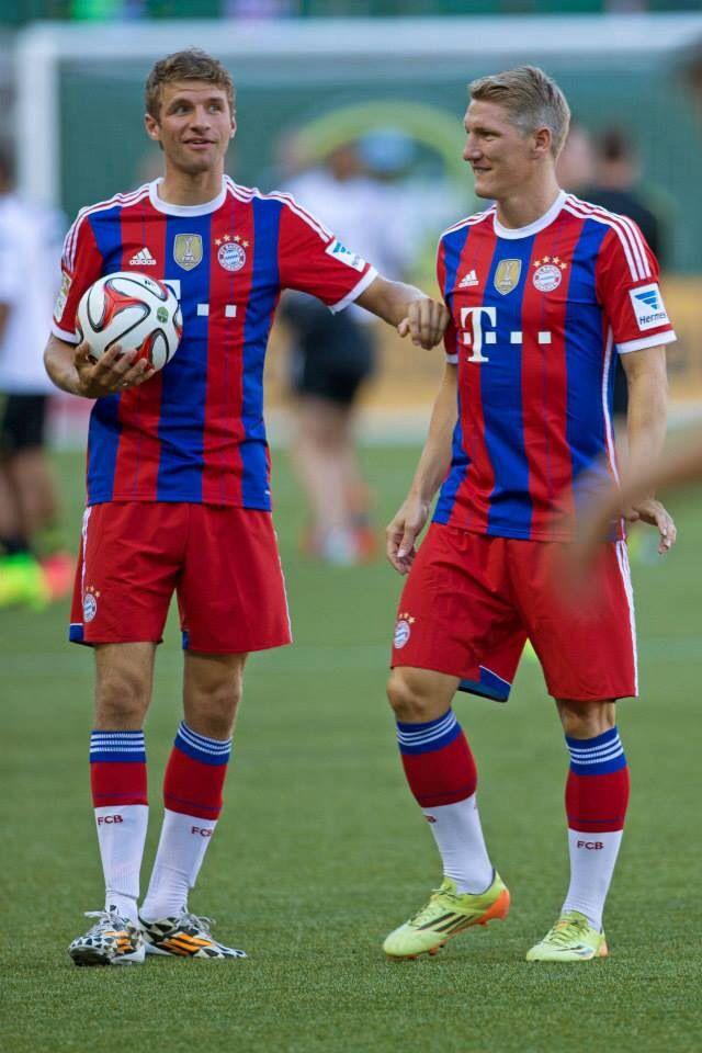 Bastian Schweinsteiger and Thomas Müller #footballislife