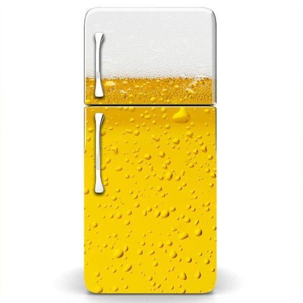 MagicSkins Fridge Wrap Refrigerator Vinyl Skin Door Decal sticker mancave BEER #MagicSkins