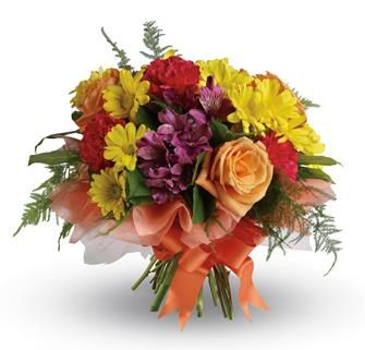 """Buy """"Precious Moments"""" for $84.95. Send A Gift Of Precious Moments - A Perfectly Pretty Bouquet Of Daisies, Roses, Carnations And Alstroemeria, Hand-tied With A Lovely Bow.  Flowers Are Subject To Seasonal Availability. In The Event That Any Of The Flowers Are Unavailable, The Florist Will Substitute With A Similar Flower In The Same Shape, Style And Colour. Stem Count, Packaging And Container May Vary. Standard (pictured Price) : B35"""