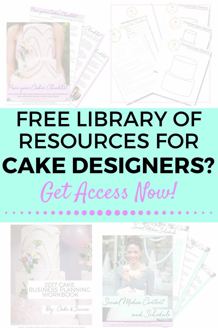 Ready to take your cake business to the next level?  Access my FREE Business Library filled with e-books, cake templates, worksheets for the cake business owner who is ready to skyrocket their cake business!
