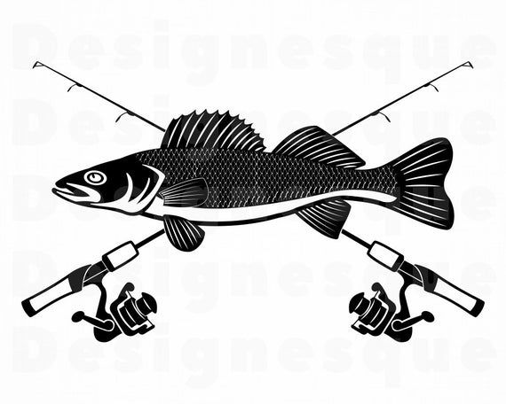 35+ Walleye Clipart Black And White