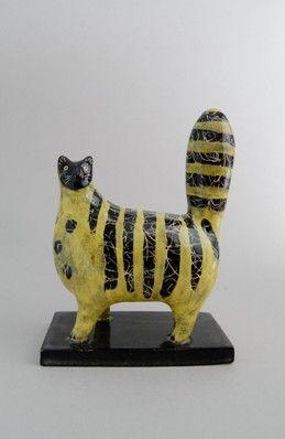 Jenny Southam - Stripy Black and Yellow Cat