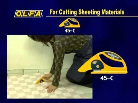 Cuchillos OLFA para alfombras y materiales laminados