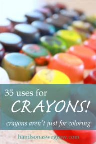 What to do with crayons: 35 Uses for Crayons