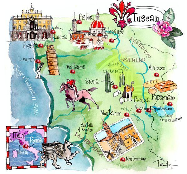 Italy art maps - Palermo- Emiglia Rmana-Tuscany by ELENI TSAKMAKI, via Behance