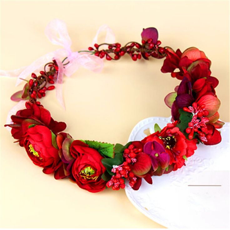 Cheap accessories baseball, Buy Quality accessories superman directly from China accessories pool Suppliers:  Flower Headpiece Wedding Bridal Hair Accessories Floral Crown Bohemia Halo Flower Crown red Artifical Flower Crown