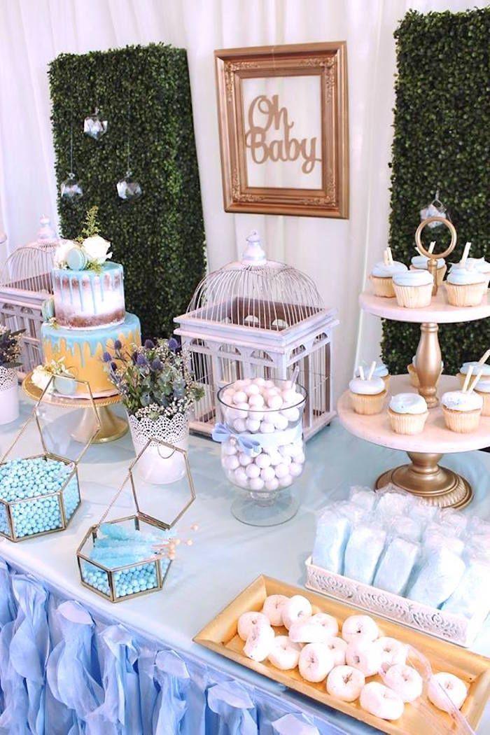 Darling Oh Baby Boy Baby Shower Baby Shower Cake Table Cake Table Decorations Baby Shower Baby Shower Dessert Table