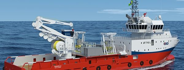 Buque-grúa para carga pesada a profundidad, se inaugura en Brasil