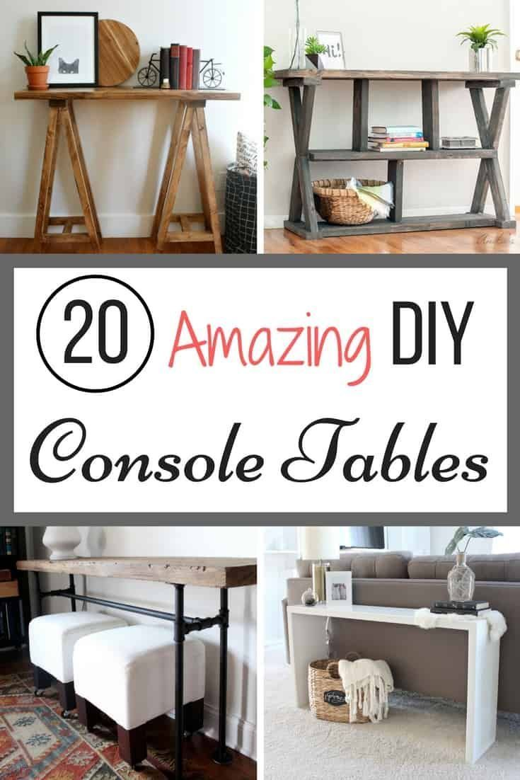 DIY Woodworking Ideas Tired of looking at console tables and not finding the right one for your space?...