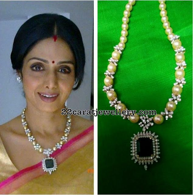 Sridevi Kapoor South Pearls Chain