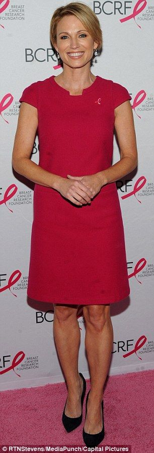 Amy Robach celebrates one year after being diagnosed with cancer #dailymail
