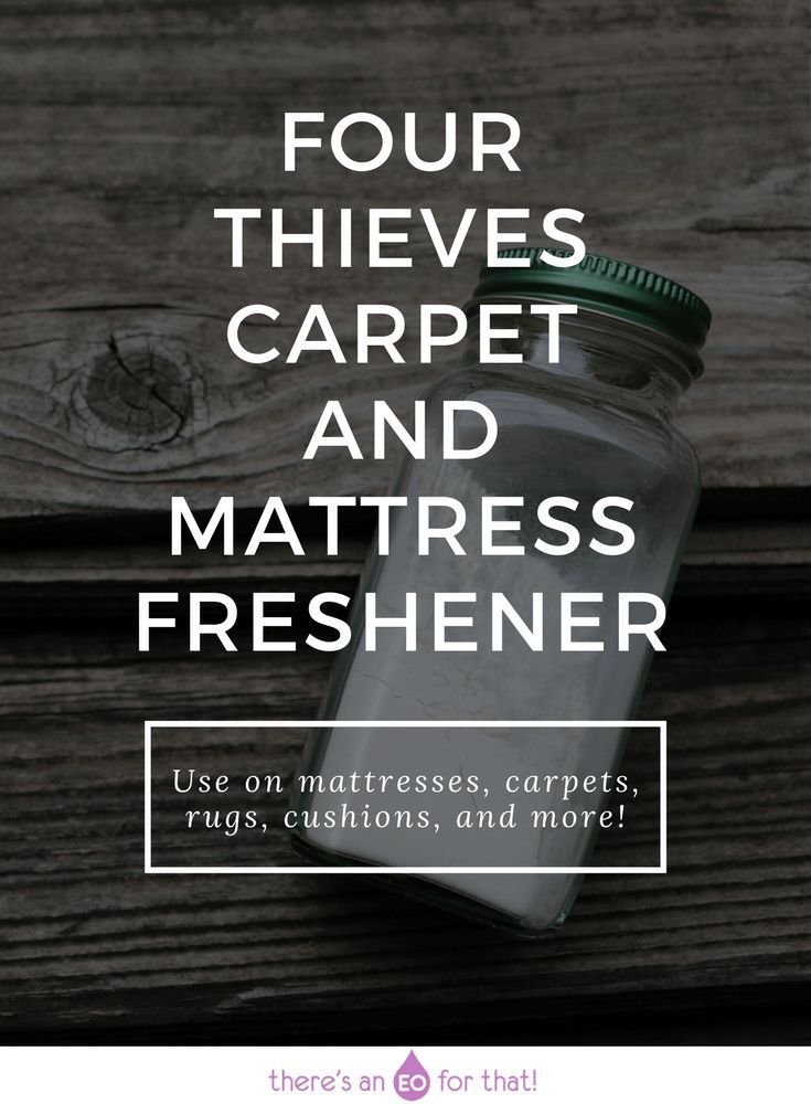 Four Thieves Carpet and Mattress Freshener that will help keep your home smelling fresh all season long!