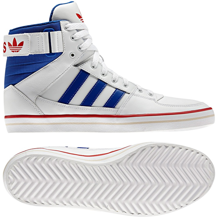 Hommes Chaussures Skydiver 2, running white / vivid red / true blue. Adidas  SneakersMan ...
