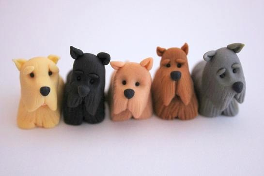 scottish terrier wedding cake toppers set of 5 x fondant scottish terrier scottie dogs cake or 19692