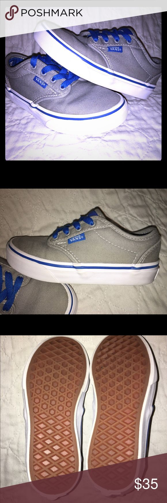 Boys Vans size 12C like new Like new boys Vans. Barely worn but maybe 5 times. As you can tell in the pictures. Wonderful shoes I think they are wonderful my son just never really wore them. Feel free to bundle up with my other boys shoes and make an offer. Vans Shoes Sneakers