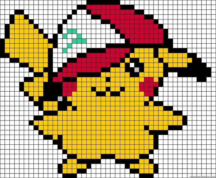 Pikachu Pokemon perler bead pattern