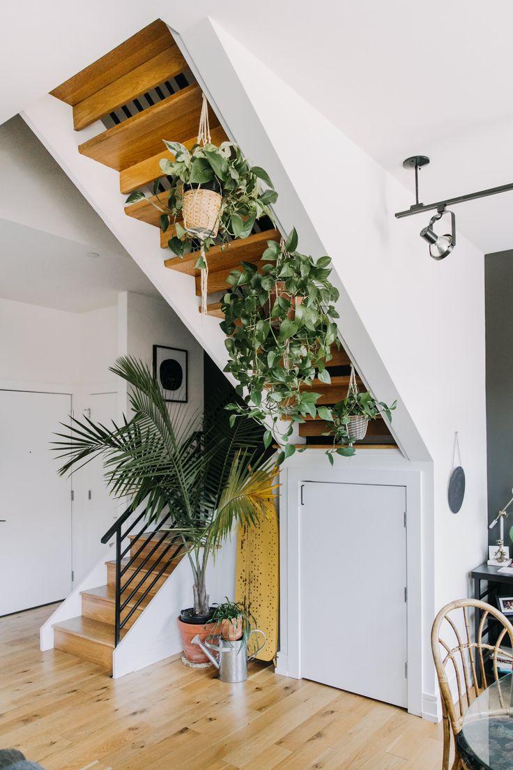 L'escalier se transforme en jardin d'hiver…