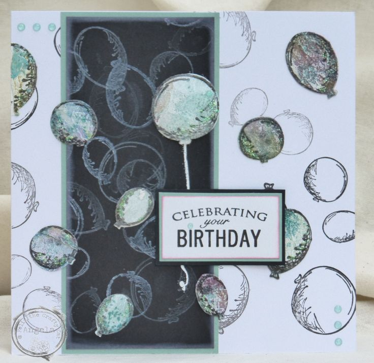 I made this Birthday card using left-over Masterboard made from mop-up papers.
