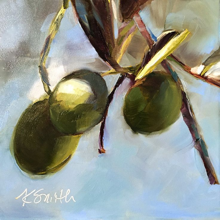 """""""olives"""" original oil painting by Kim Smith"""