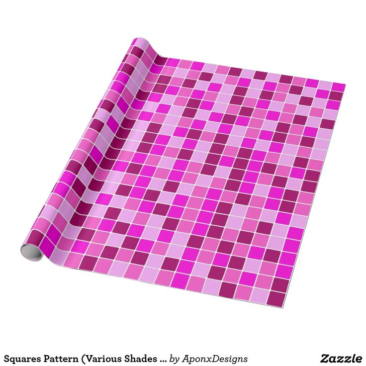 Squares Pattern (Various Shades of Pinks and Reds)