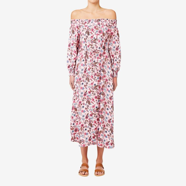 Shop now: Off Shoulder Floral Maxi. #seedheritage #seed #woman