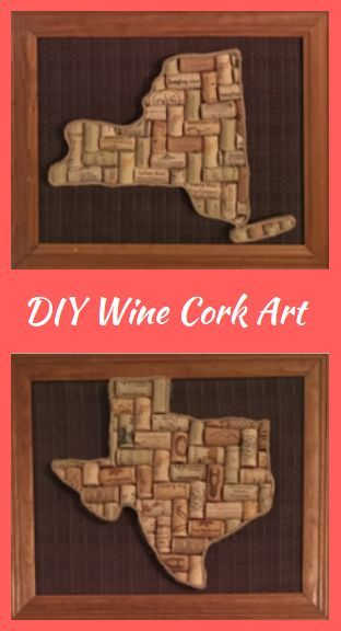 DIY State Wine Cork Wall Art