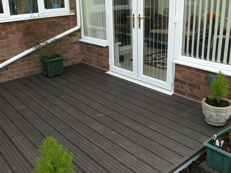 Fensys rot and slip resistant UPVC plastic composite garden decking for all year round use.