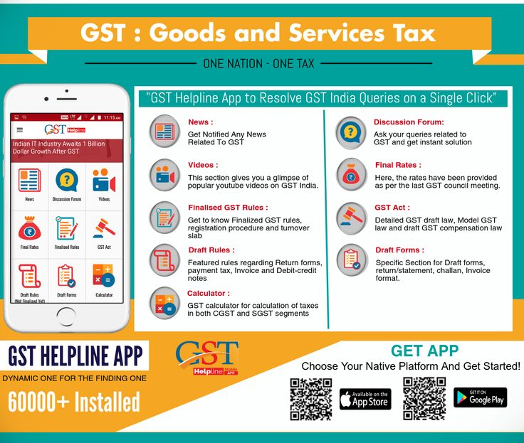 GST Helpline app is one of the best tools to understanding the new taxation regime. It provides amazing features like news, articles, discusses with CA experts (Discussion Forum) GST invoices, GST Bill, GST Calculator, final GST rates, GST forms, GST audits and GST acts in multiple languages. You can download GST App from play store and app store which is available on both platform Android and iOS.