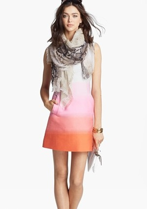 The sorbet ombre coloring of this shift dress is so summery sweet,  it is making us crave a creamsicle.  Pair it with any Cobb Hill wedge for some added height.  (via @Nordstrom www.nordstrom.com)