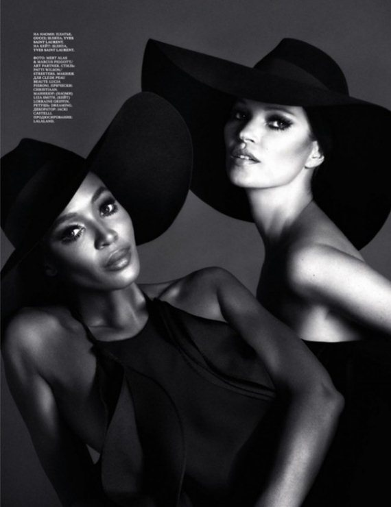 Kate Moss and Naomi Campbell together again