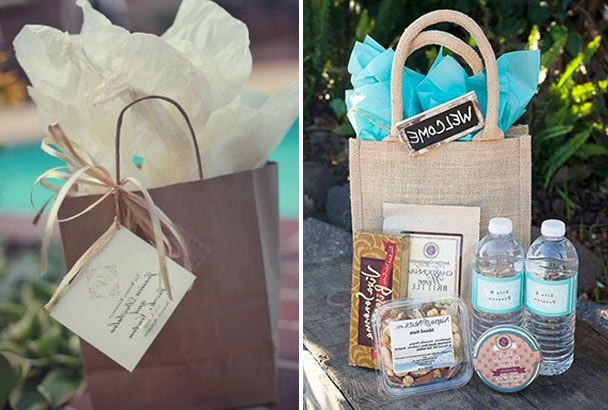 What To Put In Wedding Gift Bags: Gift Bags For Wedding Guests Ideas