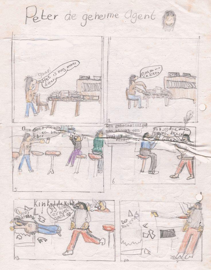 De eerste strippagina die ik ooit tekende. Als ik me niet vergis was dat in 1978.