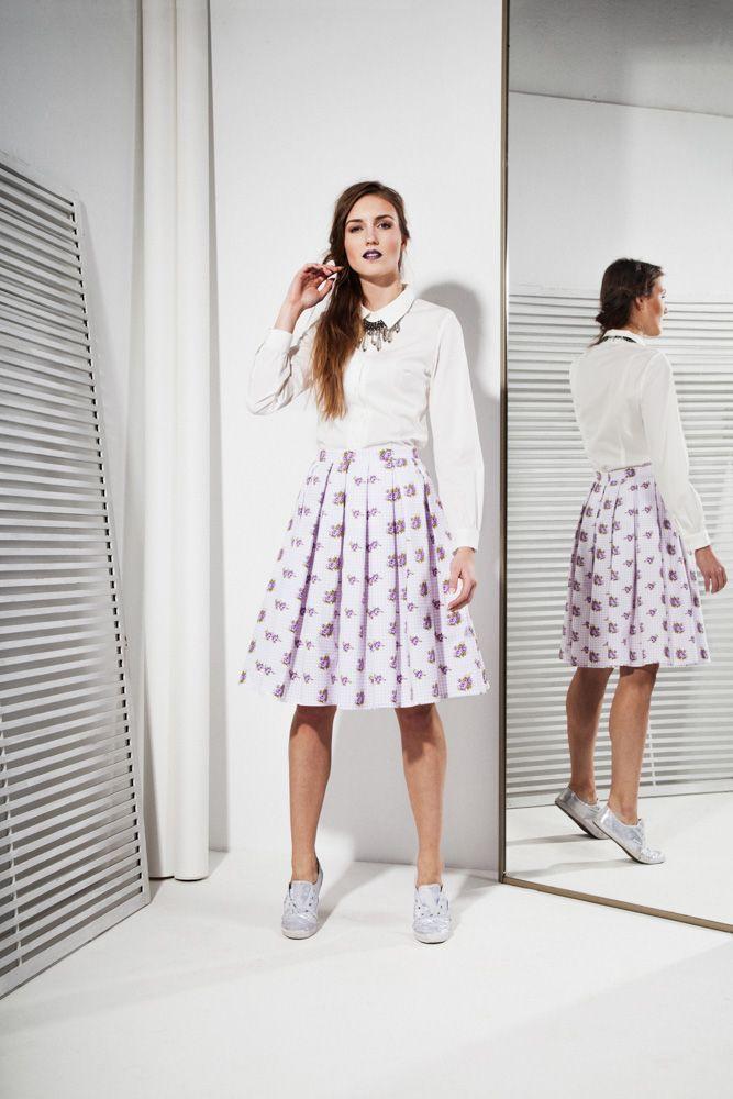 50s style White Shirt 131zł / 38$ Cotton/Elastane, 50s style Skirt 162zł / 47$ 100% Cotton
