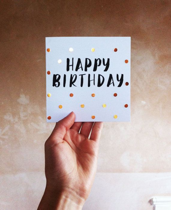These adorable hand-lettered cards are the perfect little thing to say HAPPY BIRTHDAY to someone special. Featuring hand painted black