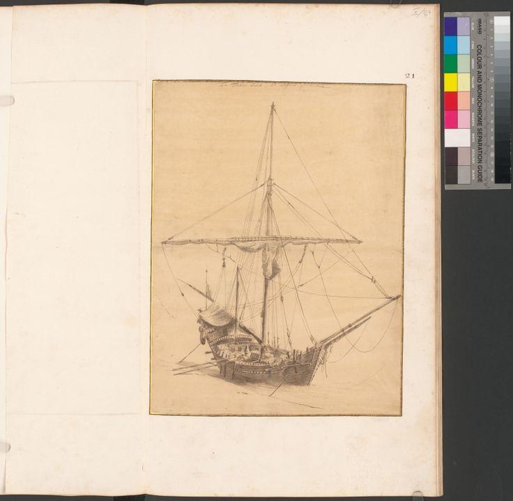Een Turkze Saick, tot Messina getekent. Beschreibung Federzeichnung in Braun, grau laviert von Willem Schellinks.