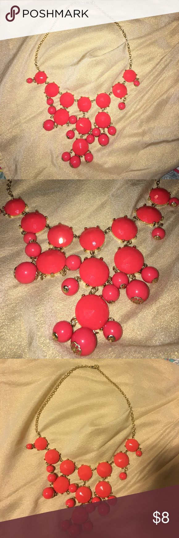 Coral Bubble Necklace Coral and gold bubble necklace Jewelry Necklaces