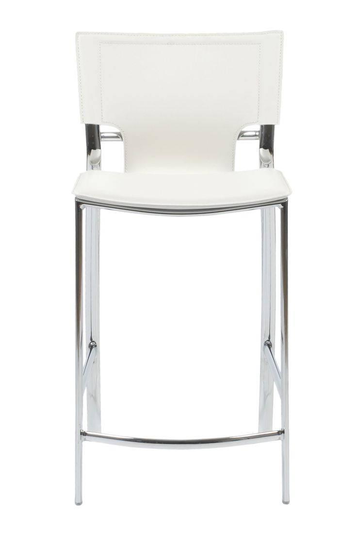 Set of 2   Vinnie Counter Stool in White with Chrome Legs by EuroStyle31 best Bar Stools for Tom images on Pinterest   Counter stools  . Nico Counter Height Dining Stool. Home Design Ideas