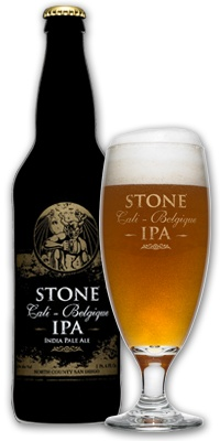 The amazing aroma of the Stone Cali-Belgique is only slightly better then the taste. Slightly cloudy with adequate head, the color would be called a true gold. As it it drawn in with the aroma it almost seems thick. Hoppy as an IPA should be but with a bubble gum finish that lasts. For hop fans this is a must. Like the other Stone beers, not for the yellow fizzy crowd.