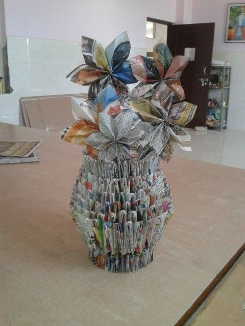 Best out of waste ajay anokha chitrkaar pinterest for Waste material craft work with paper
