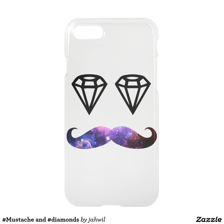 #Mustache and #diamonds iPhone 7 Case #mustache #diamond #nebula